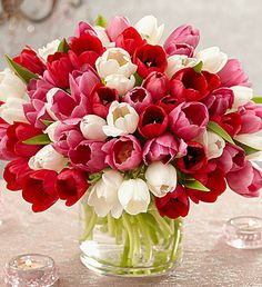 What an amazing bouquet of tulips perfect for any occasion!