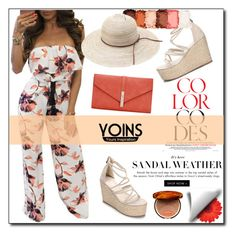 """YOINS - Floral Jumpsuit"" by samra-dzabija on Polyvore featuring NYX, Clarins, yoins, yoinscollection and loveyoins"