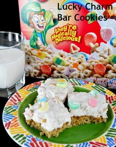 Lucky Charms Bar Cookies Recipe