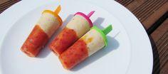 Peach and Banana Ice Lollipops