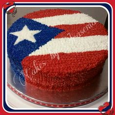 Puerto Rican flag cake #PuertoRico #boricua #proud #puertorican #caribbean #quebonitabandera #yosoyboricua #paquetulosepas Cake Decorating Supplies, Cake Decorating Techniques, Cake Decorating Tutorials, Cupcake Cakes, Cake Cookies, Baby Cakes, Mini Cakes, Wedding Cakes With Flowers, Flower Cakes