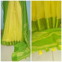 Soft cotton with silk border sarees