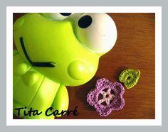 Tita Carré  Agulha e Tricot : Pequena flor Lilás em crochet