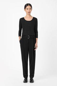 COS | Belted waist trousers.  Belts on gentlemen?