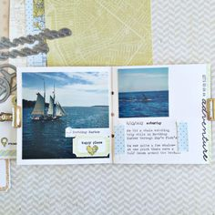 Travel Mini Book Inside Spread by Heather Nichols for Papertrey Ink (July 2016)