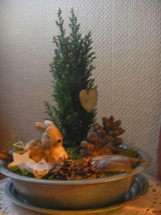 Hjertetunet: Litt juledekorasjon