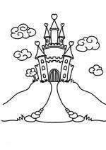 Ausmalbild ritter kostenlose malvorlage ritterturnier kostenlos ausdrucken bastelideen kita - Dessin chateau princesse ...