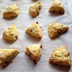Mini Cranberry Orange Scones. Orange zest and orange extract give these a bright, happy flavor that goes so nicely with all the butter in them.