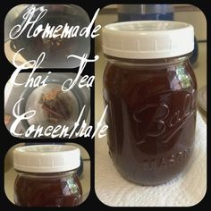 Homemade Chai Tea Concentrate made in the slow cooker! Use to make hot or cold chai tea lattes just like Starbucks!