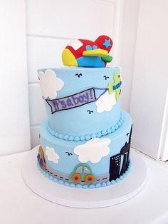 Airplane It's a Boy Cake