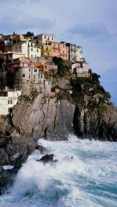 Manarola, Liguria, Italy.   Go to www.YourTravelVideos.com or just click on photo for home videos and much more on sites like this.
