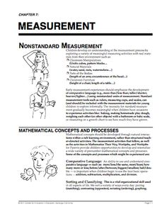 Here's a Math Their Way newsletter on nonstandard measurement. Includes a wealth of ideas for hands-on activities.
