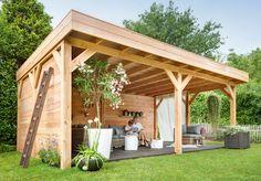 Tuinhuis, carport, overkapping :: Terrasoverkapping :: Overkapping plat dak :: overkapping platdak 505 x 450 - Kühlkamp Buitenhout