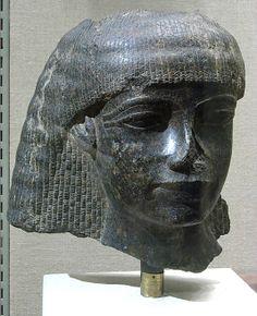 Head of a Man  Period:     New Kingdom Dynasty:     Dynasty 18 Reign:     reign of Amenhotep III Date:     ca. 1550–1295 B.C. Geography:     Country of Origin Egypt Medium:     Diorite Dimensions:     11 1/4 in. (28.5 cm)