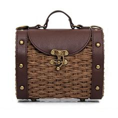 Vintage Crane Hobo Satchel Fashion Bag