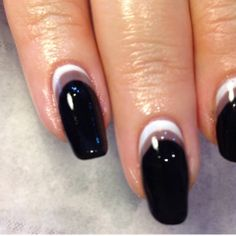 Super stylish monochrome mani created by Relax and Glow in Cleadon.