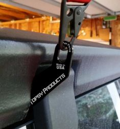 The Hinge Hook Hoist Bracket is a custom bracket that bolts to the outside of the rear glass hinges to allows lifting of the hardtop off your Wrangler. Designed to fit almost all Jeep Wranglers. Jeep Wranglers, Jeep Wrangler Hard Top, Jeep Hard Top, Jeep Wrangler Models, Jeep Wrangler Unlimited, Wrangler Jl, Jeep Wrangler Accessories, Jeep Accessories, Jeep Hardtop Storage