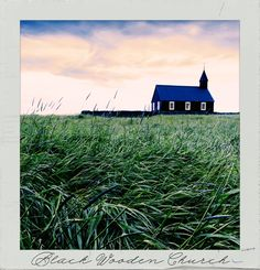 The #BlackWoodenChurch. #Follow #PolaroidFx #Polaroid #Frame #Instant #Church #Religion #Travel #Travelling #Tourism #Tourist #Visiting #Holiday #Trip #Vacation #Europe #Budir #Iceland