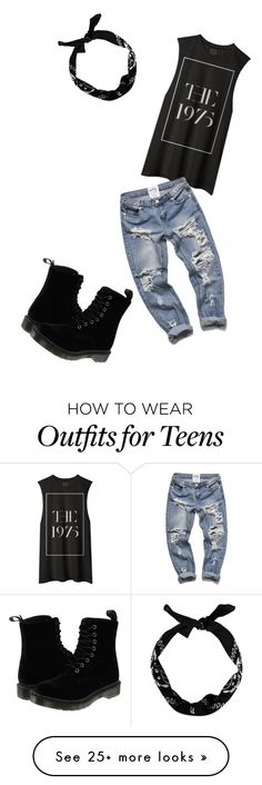 """""""Untitled #1"""" by princesspanelli on Polyvore featuring Dr. Martens, women's clothing, women, female, woman, misses and juniors"""
