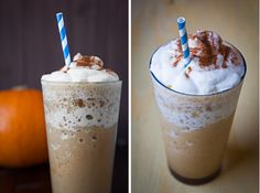 """White Mocha Pumpkin """"Frappuccino"""" Iced Blended Drink (naturally gluten free)"""