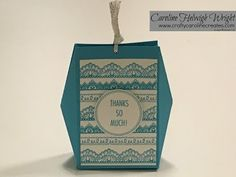 CraftyCarolineCreates: Delicate Details Gift Box with Wings - Video Tutorial with new Stampin' Up products