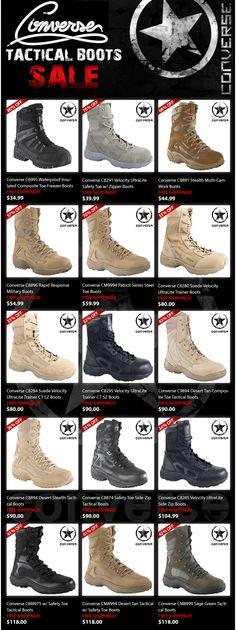 Converse Tactical Boots