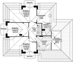 Rzut ARD Kasztan 2 paliwo stałe CE Design Case, My House, House Plans, Floor Plans, Lights, How To Plan, Ideas, Two Story Houses, Home