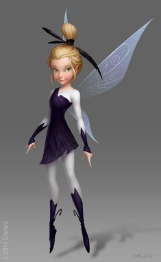 Glimmer a lightning fairy from the new Pixie Hollow Games movie