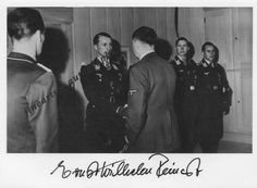 Adolf Hitler at Eichenlaub ceremony for Luftwaffe aces, 30 October 1942. Here Hitler shaking hands with Johannes Steinhoff