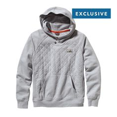 Patagonia Men\'s Reclaimed Cotton Hoody - Feather Grey FEA // Truth to Materials Collection - made of upcycled cotton fabrics// $149
