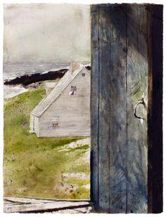 Andrew Newell Wyeth - Artist Art for Sale - Andrew Newell Wyeth Andrew Wyeth Paintings, Andrew Wyeth Art, Jamie Wyeth, Watercolor Landscape, Landscape Art, Watercolour Painting, Nc Wyeth, Bunny Painting, Artist Art