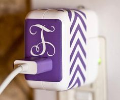 iPod/iPhone Charger and cable decals large by GadgetDecalDotCom, $12.00