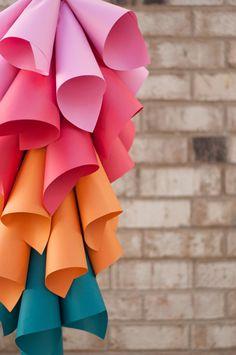 hanging paper cone centerpiece | a subtle revelry.
