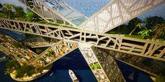 Crazy Green-Roofed Habitable Bridge Proposed to Span Acapulco Bay