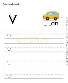 Small Letters V - esl-efl Worksheets - kindergarten Worksheets