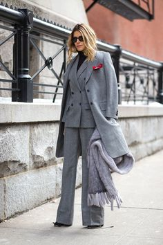 If you find yourself not knowing where to start when it comes to winter dressing, choose one color and stick with it. A monochromatic ensemble ensures a put together, unfussy look.    - HarpersBAZAAR.com