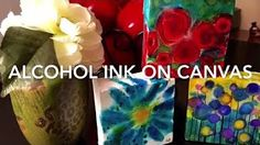 ~Alcohol Inks On Canvas~How To~ - YouTube