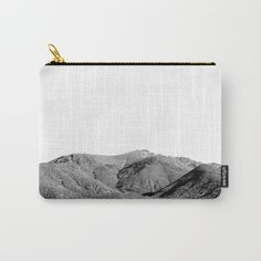 Mountain Tote Bag by ARTbyJWP -----  Organize your life with one of our Carry-All Pouches. Available in three sizes with wrap-around artwork, these pouches are perfect for carrying toiletries, art supplies and makeup-or fit an iPad in the large one. Comes with the ever-awesome YKK zipper, a strong canvas-like exterior, a 50/50 poly-cotton black interior lining and is machine washable. Carry on, carry on.