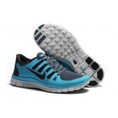 Nye Ankomst Nike Free 5.0+ Lysblå Grå Herre Sko Skobutik | Nyeste Nike Free 5.0+ Skobutik | Populær Nike Free Skobutik | denmarksko.com