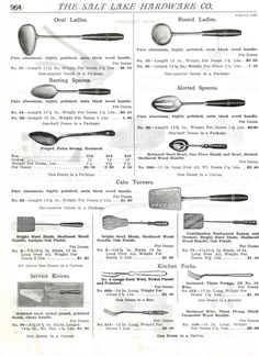 1925 Salt Lake City Hardware Co kitchenailia