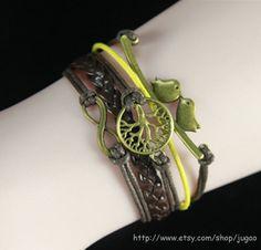 Infinity Bracelet Woven Bracelet Wax Rope Bracelet Cords by JuGao, $4.90
