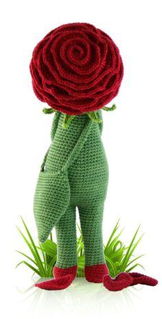 Rose Roxy - crochet amigurumi pattern by Zabbez / Bas den Braver