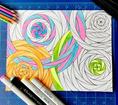 Candy Circles Coloring_Art Page by ColorWorksArtStudio on Etsy