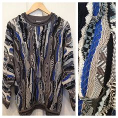 Vintage 90's Blue and Grey Coogi Sweater #coogi #cosbysweater #biggie