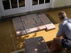 how to make a brick patio on uneven ground