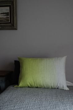 Ombré neon yellow cushion SALE