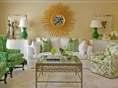 Chic and Green - Our Favorite Color-Infused Living Rooms on HGTV