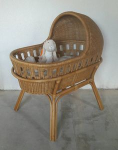 Rattan Crib Bassinet Cradle