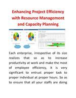 Each enterprise, irrespective of its size realizes that so as to increase productivity at work and make the most of employee efficiency, it is very significant to entrust proper task to proper individual at proper hours. So as to ensure that all your staffs are doing their best according to their capabilities, #resource_management and capacity planning is significant.