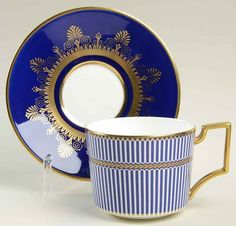 Wedgwood ANTHEMION BLUE Cup & Saucer 7401016